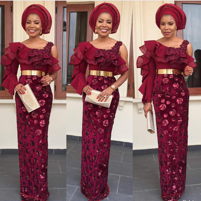 Ladies See These Classical, Hot and Trendy African Aso-Ebi Styles 2018 For Owambe Things
