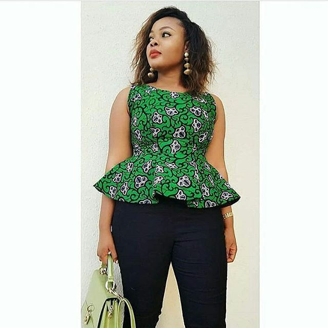 Ladies See These Awesome Ankara Tops 2018 For Cute Ladies