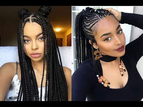 Latest Braided Hairstyles Get Ideas Of Black Braided Hairstyles