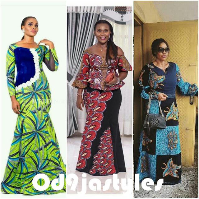 Stylish Ankara long gown styles 2018
