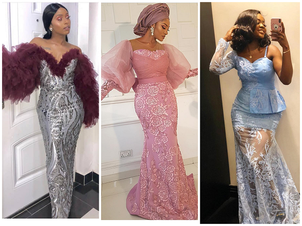 Check Out These 50 Most Gorgeous New Looks Of Lace Aso Ebi