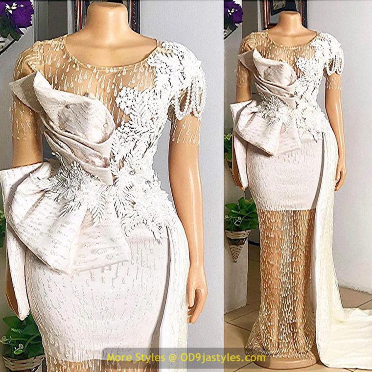 White Lace Aso Ebi Styles