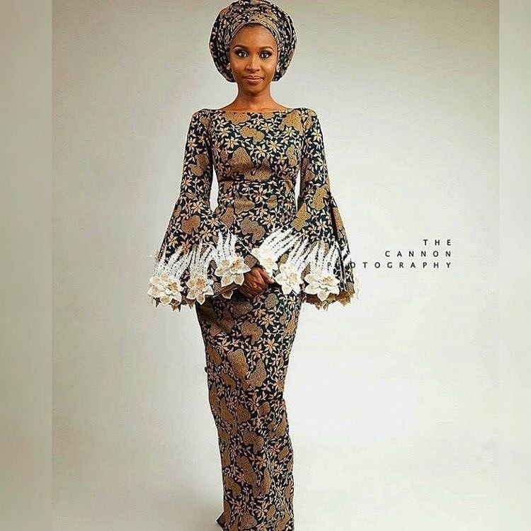 Ankara Long Gown Pictures long ankara gown styles - 50 PHOTOS: Long Ankara Gown Styles – 2021 Ankara Long Gown Pictures